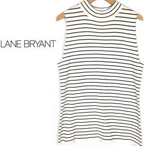 LaneBryant sweater knit turtle mock neck top shell